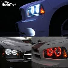 dodge charger car accessories for dodge charger rgb led headlight halo kit car