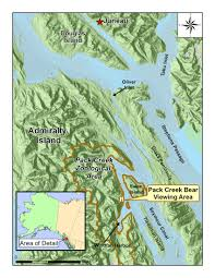 Sitka Alaska Map Tongass National Forest Nature Viewing