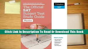 books download the official sat subject test in physics study