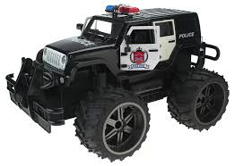 police jeep wrangler amazon com jeep wrangler police unit 1 14 scale battery operated
