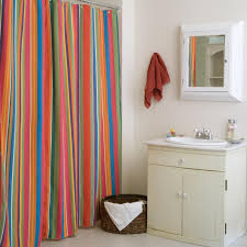 Window Treatment Ideas For Bathroom Bathroom Damask Stripe Fabric Shower Curtains For Bathroom