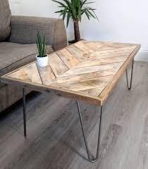 reclaimed timber coffee table reclaimed timber coffee table kalasaba chevron herringbone pattern