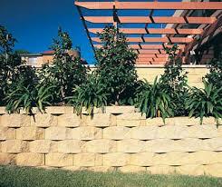 solid concrete block for retaining walls for garden enclosures