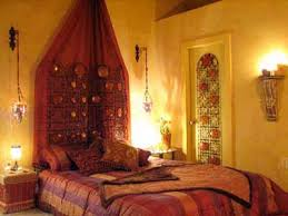 warm colors for bedroom decorating in moroccan style