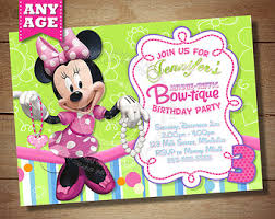 minnie mouse bowtique invitation minnie mouse bow tique