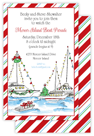holiday boat parade nautical christmas invitations creations by