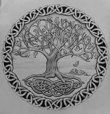 tattoos celtic norse tree of with rocks by
