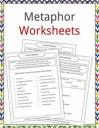 metaphor exles definition and worksheets what is a metaphor