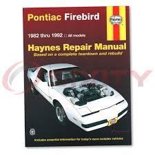 pontiac firebird haynes repair manual trans am gta base formula se