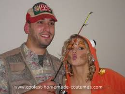 Bounty Hunter Halloween Costumes Coolest Homemade Fisherman Catch Couple Halloween Costume
