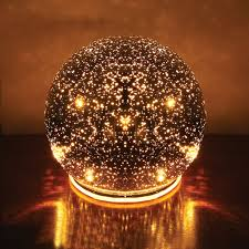 Outdoor Lighted Balls by Lighted Mercury Glass Sphere Gazing Ball Battery Powered