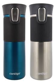 contigo travel mug contigo autoseal spill proof travel mug biscay bay stainless