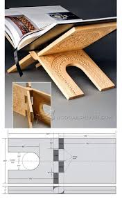 make book stand woodworking plans and projects woodarchivist
