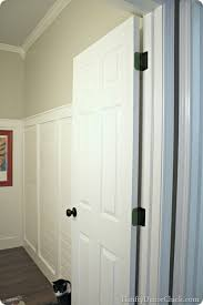 Spray Painting Interior Doors One More Black Door From Thrifty Decor