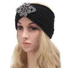 headband ear warmer women headband knit turban with rhinestone headband ear warmer