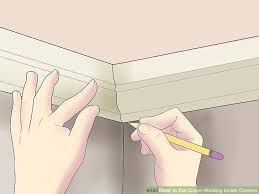 how to cut angles in front corners of hair how to cut crown molding inside corners 14 steps with pictures
