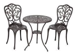 Amazon Garden Table And Chairs Amazon Com Patio Sense Faustina Antique Bronze 3 Piece Bistro Set
