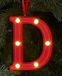 lighted marquee monogram ornaments the lakeside collection