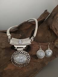 white turquoise necklace images Silver necklaces jpg