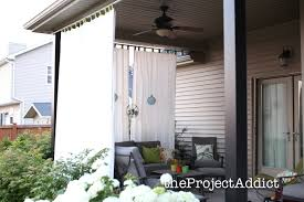 White Outdoor Curtain Panels Patio Ideas Outdoor Drapes For With White Curtain Color And