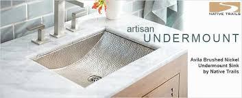 Undercounter Bathroom Sink Custom 10 Hammered Undermount Bathroom Sink Decorating
