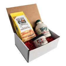 Breakfast Gift Baskets Maple Breakfast Gift Box U2013 Windswept Maples Farm