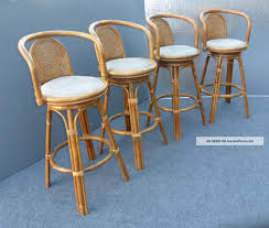 Bar Stool With Cushion Kitchen U0026 Dining Swivel Rattan Bar Stools With Back And White