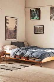 Cheap Bed Frames Bed Frames Headboard Storage Brown Finish Teak Wood Frame