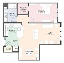stylish small one bedroom apartment floor plans