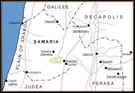 Judea Map An Appointment From Eternity The Samaritan Woman At The Well