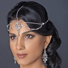 pearl headpiece rhodium silver diamond white pearl rhinestone forehead headpiece