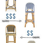 parisian bar stools parisian bistro woven bar stool williams