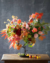 autumn flower centerpiece by kiana of tulipina u2013 design sponge