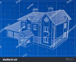 3d render building vector contours houses stock vector 384610615