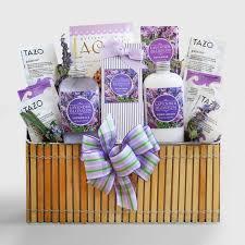 spa gift basket fields of lavender spa gift basket world market