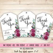 bridal shower thank you tag rose bridal shower tag bridal shower