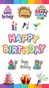 birthday stickers happy birthday stickers pack on the app store
