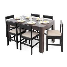 six seater dining table forzza carter six seater dining table set matte finish wenge mugen
