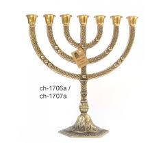 7 branch menorah for sale yellow 7 branch menorah ajudaica