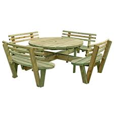 Red Cedar Octagon Walk In Picnic Table by My Ideas Free Large Round Picnic Table Plans Home Tables
