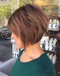 front and back views of chopped hair 50 chic long and short layered bob haircuts dazzle with layers