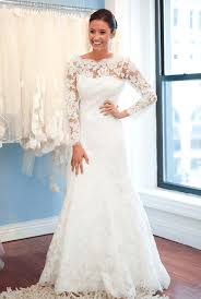 a line lace sweep train bridal gown with chain popular open back