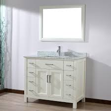 Bathroom Vanity Dimensions by Studio Bathe Kelly 42 Inch White Finish Bathroom Vanity Solid