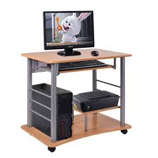 Rolling Computer Desk Pc Table Workstation Desks Office