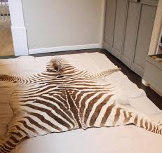 Zebra Floor L Flooring Rugs Curtains Diy Chocolate White Faux Zebra Rug For