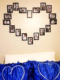 Wall Picture Frames by Diy Wall Heart Picture Collage U003c3 12 For All Picture Frames
