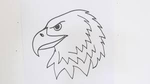 how to draw an eagle u0027s head youtube