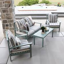Wooden Outdoor Lounge Furniture Dining Chair Wood Gray Patio Conversation Sets Outdoor