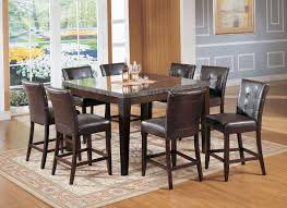 acme danville 7 pc marble top square counter height dining table