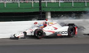 bourdais fractures pelvis hip during indy qualifying crash
